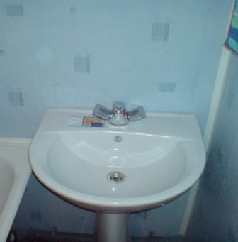 Ремонт ванной и туалета с применением